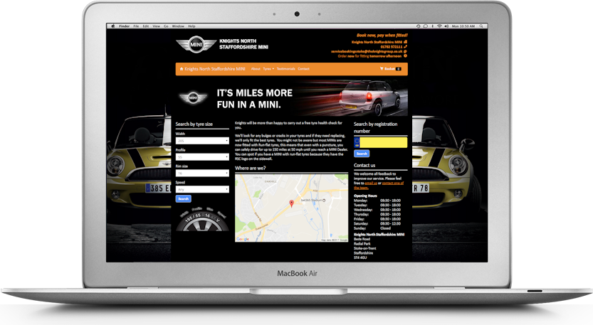 Knights Mini TyreClick Website